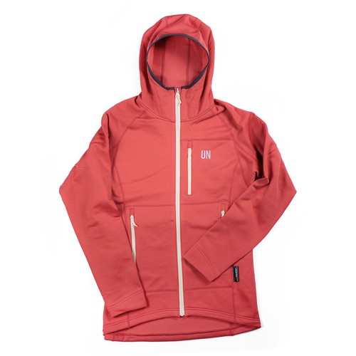 UN3100 Mid weight fleece hoody / Red