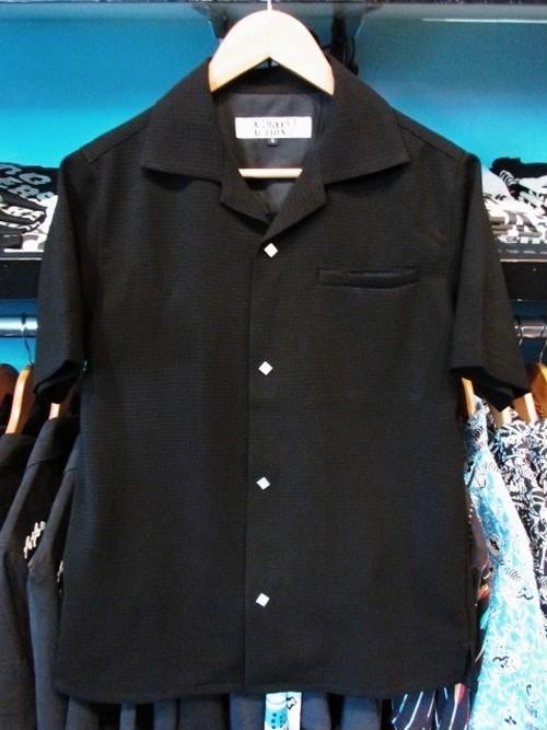 S/Sシャツ ブラック/ワッフル