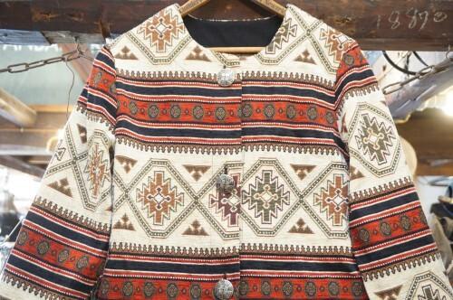 90's native collarless Jacket