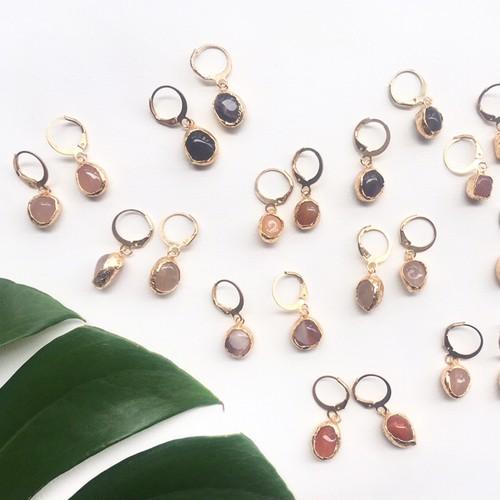 mini stone pierce ※イヤリング交換可能