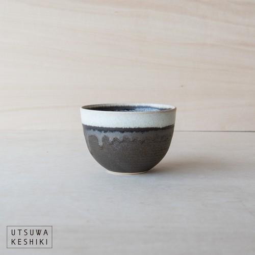 [トキノハ]shiro-kuro 碗 小(白黒)