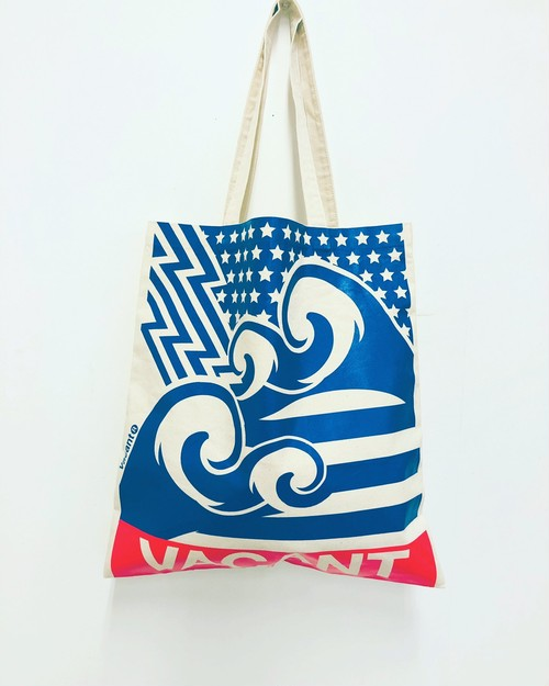 Web Limited★STAR&WAVE Big-tote Saxe Blue×Neon pink