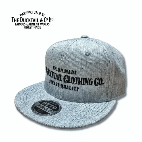 """DUCKTAIL CLOTHING """"SIGN"""" SNAPBACK CAP HEATHER GRAY ダックテイル クロージング スナップバックキャップ"""