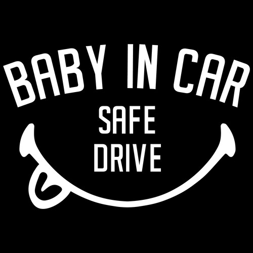 """BABY IN CAR"" ステッカー"