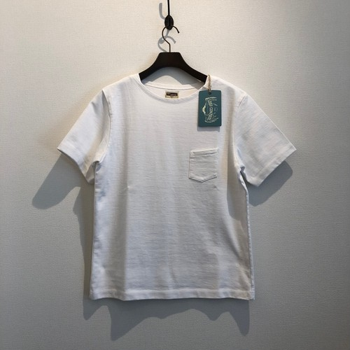 BOAT NECK HEAVY TEE (WHITE) / LOST CONTROL