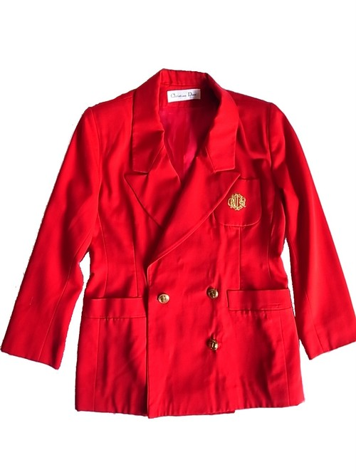 Christian Dior Vintage Red tailored Jacket
