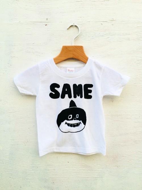 サメTシャツ キッズ   100 イラスト シルクスクリーン デザイン キャラクター