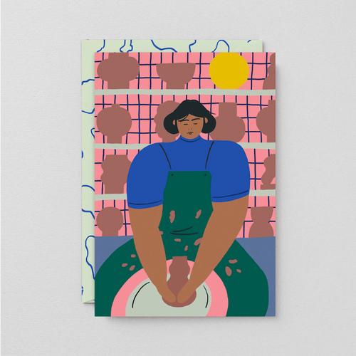 WRAP / THE POTTER  ART CARD -Artwork by Karl-Joel Larsson- アートカード