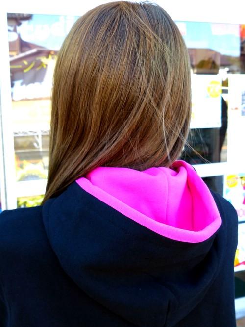C-StyleパーカーII フード(ピンク.イエロー)