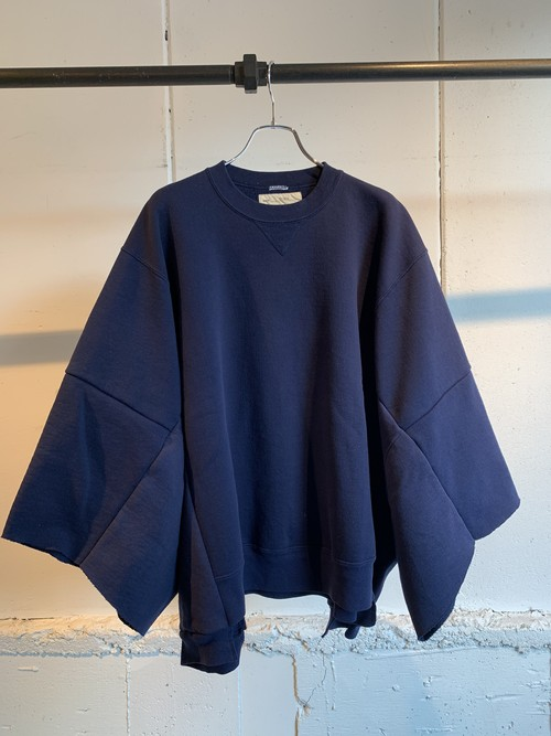 77CIRCA circa make wide set in short sleeve sweat top (Navy)