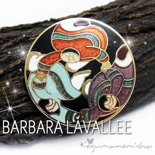 BARBARA LAVALLE★ アラスカンアート エスキモーの女性 ヴィンテージ クロワゾネ エナメル ブローチ 作家 バーバラ・ラヴァリー