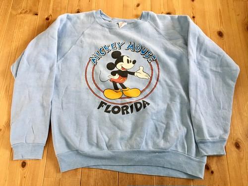 ビンテージ ミッキーマウス プリントスエット 80s 90s OLD ディズニー