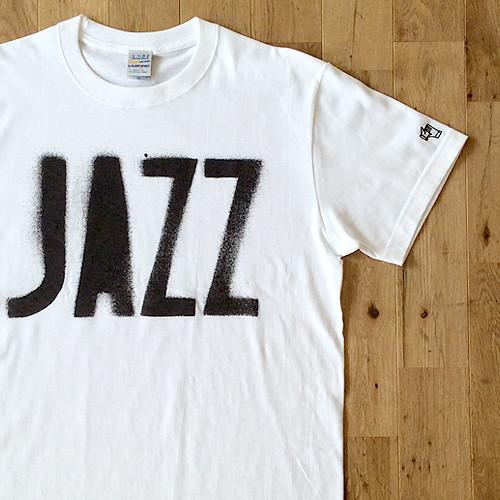 """JS """"JAZZ"""" ステンシル Tシャツ/ホワイト"""