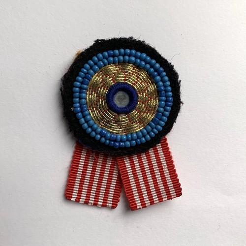 [Trophy] Hand Needle Brooch _01(ヴィンテージ ハンドメイド 刺繍ブローチ)
