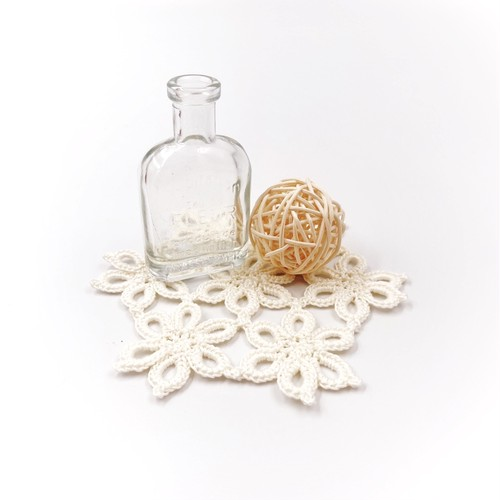 花つなドイリー*ホワイト