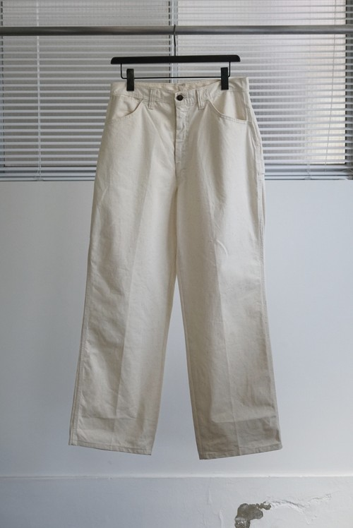 <SOLD OUT>Unbleached Cloth Painter Pants 1970's Dead Stock