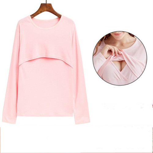 【注文商品】【マタニティー】Maternity Long Sleeve Nursing 【Pink A】