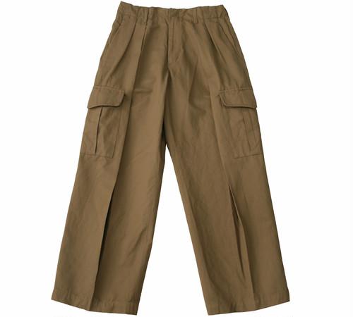 C/LI DOUBLE TUCK CARGO PANTS / 綿麻ダブルタックカーゴパンツ(BEG)