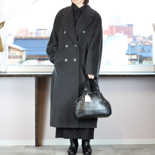 .MAX MARA CASHMERE BREND WOOL OVER COAT MADE IN ITALY/マックスマーラカシミヤ混ウールオーバーコート 2000000041117