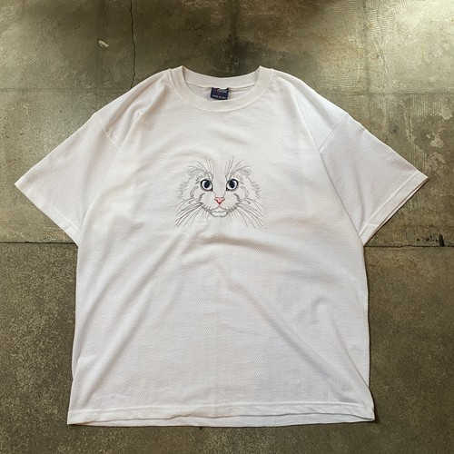 90s Cat T-shirt / USA