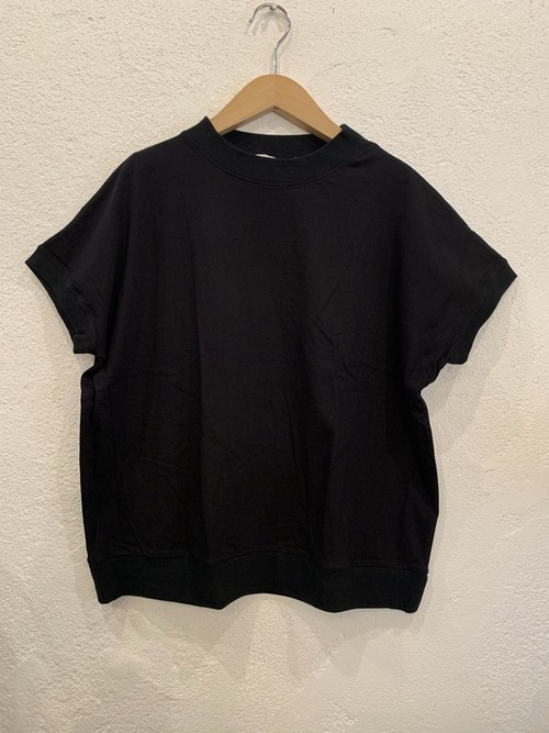 nachukara/リブドッキング半袖Tシャツ  ブラック