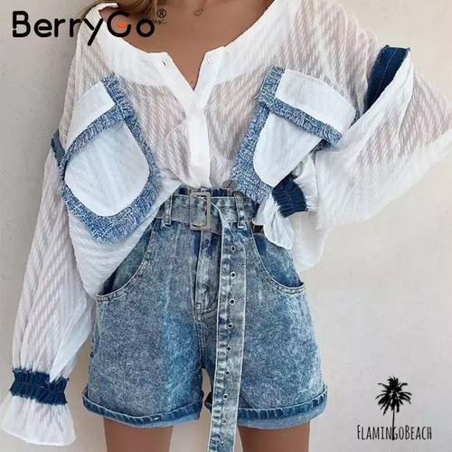 【FlamingoBeach】denim shirt デニムシャツ 59514