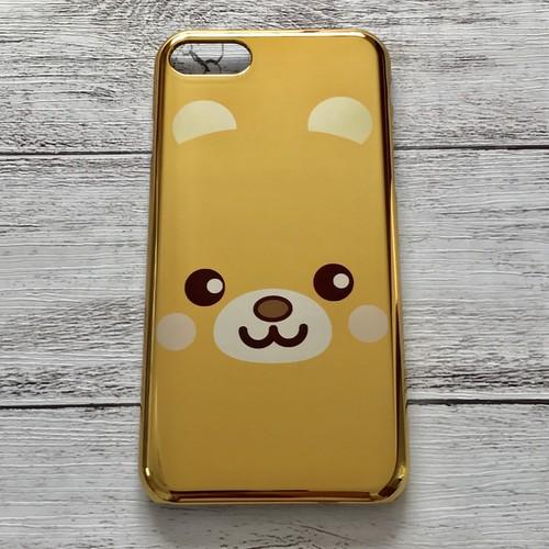 iPhoneケース 送料無料 動物 くま iPhone7/8 メタリック ケース 可愛い タイトル:デカ クマ