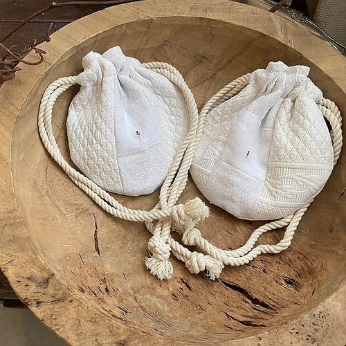 オモニエール巾着ミニサイズ/小花2