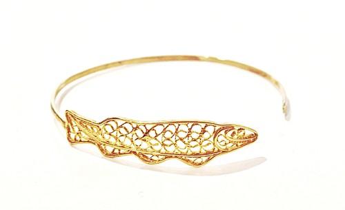 回遊する魚 - バングルB ゴールド