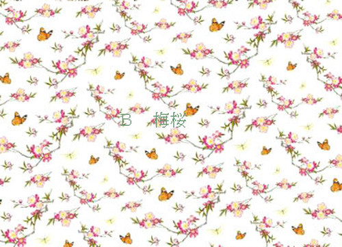 咲くらオリジナル新転写紙「蝶恋花 B梅桜」