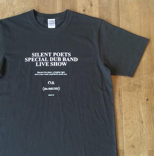 """【残りわずか】SILENT POETS × JAZZY SPORT """"DUB BAND"""" Tシャツ/ブラック"""