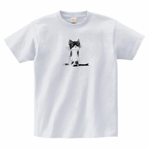 あずき猫アッシュ(薄いグレー)男女兼用サイズTシャツ