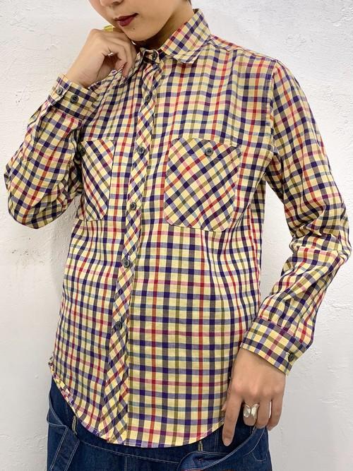 (TOYO) check pattern l/s shirt