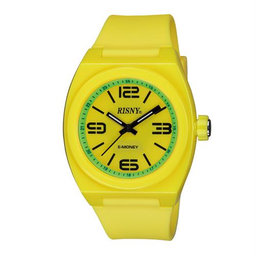 RS-001M-07 RISNY(リスニー) 楽天Edy内蔵 クオーツ 腕時計 イエロー グリーン ユニセックス