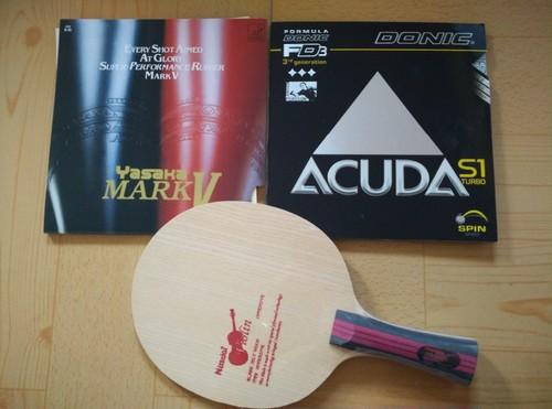 NITTAKU Violin Table Tennis Base Ping Pong Paddle/Blade/Racket  With Yasaka(Mark V