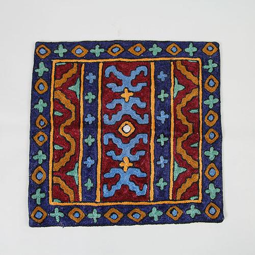 クッションカバー青(30×30)