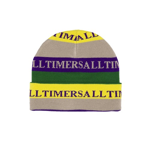 ALLTIMERS / LEWIS BEANIE -GREY/YELLOW/ROYAL-