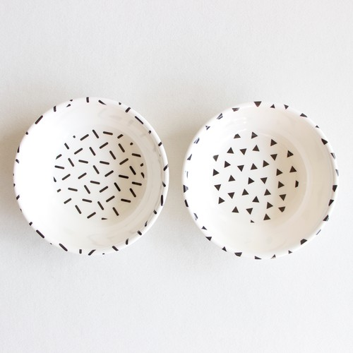 《chocolatesoup》GEOMETRY MELAMINE BOWL