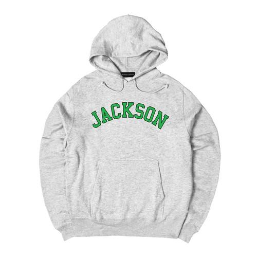 COLLEGE LOGO J HOODIE M381506-GRAY / フード スウェット パーカー グレー MARATHON JACKSON マラソン ジャクソン