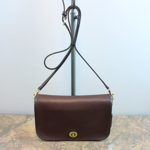 .OLD COACH TURN LOCK LEATHER SHOULDER BAG MADE IN MEXICO/オールドコーチターンロックレザーショルダーバッグ 2000000035215