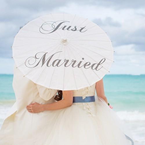 """《訳あり》ウェディングパラソル """"Just Married"""""""