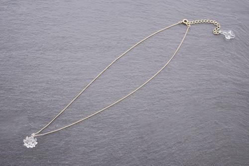 【予約注文】HAP-C-003 ネックレス 1 シロツメクサ(ゴールド)