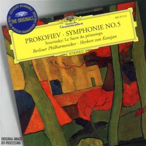 [中古CD] プロコフィエフ:交響曲第5番/ストラヴィンスキー:春の祭典 カラヤン/ベルリン・フィルハーモニー管弦楽団