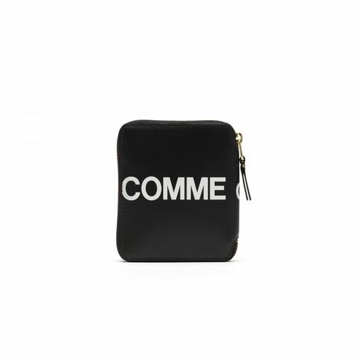 WALLET COMME des GARCONS【ウォレットコムデギャルソン】HUGE LOGO Round Wallet (BLACK)