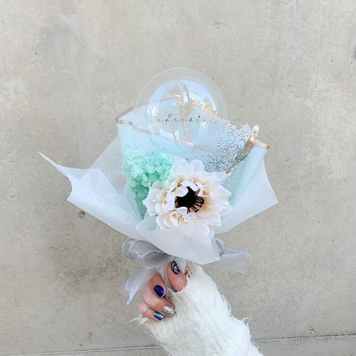 BALLOON FLOWER BOUQUET MINI - tiffany -