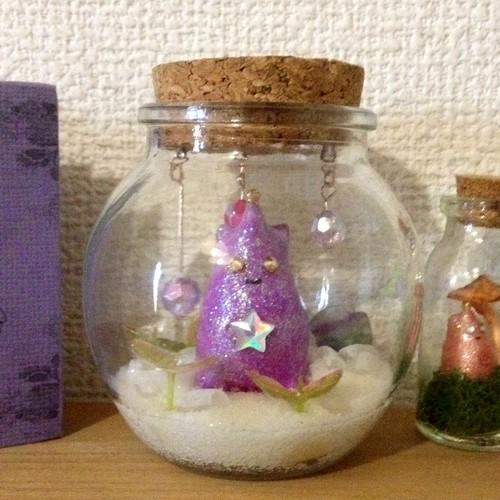 うちぅじんの大瓶標本オブジェ(キラキラ世界)