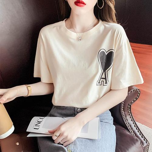 【tops】話題の注目アイテムゆったりカジュアル プリントTシャツ4色大好評