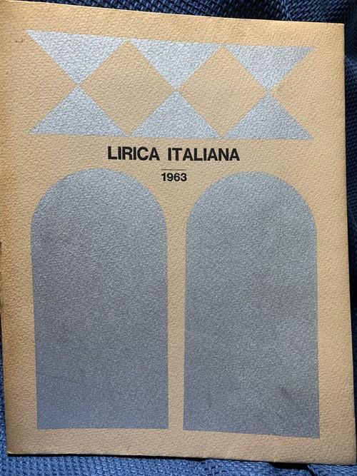 LIRICA ITALIANA 1963 イタリア歌劇団来日後援プログラム【主催:NHK 後援:外務省、イタリア大使館】