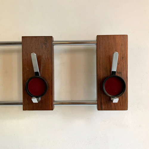 Retro Modern Rosewood × Chrome Coat Rack オランダ