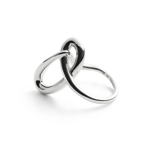 ❰ New ❱ Contort cross silver ring